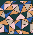 color seamless polygonal geometric pattern vector image