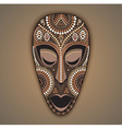 colorful african mask vector image vector image