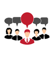 concept of leadership dialog speech bubbles - vector image vector image