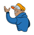 cool cartoon graffiti guy with cap image vector image