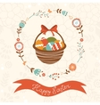 Cute Easter card with basket