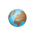 earth globe background vector image vector image
