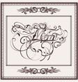 elegant menu design in classic style vector image vector image