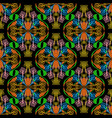 ethnic style colorful floral seamless pattern vector image vector image