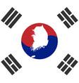 flag south korea vector image vector image