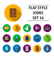 furniture set icons in flat style big collection vector image