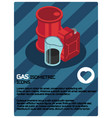 gas color isometric poster vector image