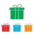 Gift box sign Colorfull set vector image vector image