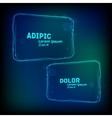 glowing frames against dark background vector image vector image
