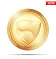 gold coin with xem cryptocurrency sign vector image vector image
