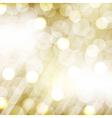 Golden Bokeh vector image vector image