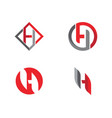 h letter logo template design vector image