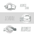 hand draw business school vector image vector image