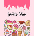 hand drawn sweets banner vector image vector image