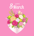 happy 8 march decoration vector image vector image