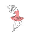 happy ballerina in pink dress vector image vector image