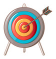 hit the target icon cartoon style vector image vector image