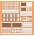 horizontal ventilation shutters vector image vector image