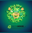 irish st patricks day neon sign vector image vector image