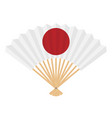japan flag on fan on a white background vector image
