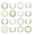 laurel wreaths collection vector image vector image