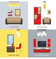 Living Room Set vector image vector image