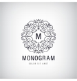 Luxury monogram Vintage logo icon vector image vector image