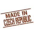 made in czech republic stamp vector image vector image