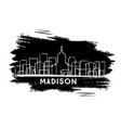madison wisconsin city skyline silhouette hand vector image vector image
