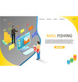 mail phishing landing page website template vector image vector image