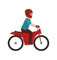 man biker extreme sport vector image vector image