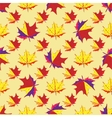 maple leaves on yellow background vector image vector image