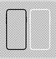 modern smartphone flat mockup black and white vector image vector image