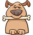 mood busy dog cartoon vector image vector image