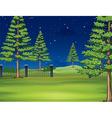 National park at night vector image vector image