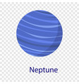 neptune planet icon flat style vector image vector image