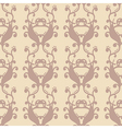 neutral floral background swirl and curve vector image vector image