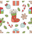 new year mouse christmas seamless pattern i vector image vector image