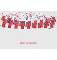 norway garland flag with confetti vector image vector image