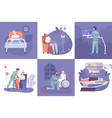 oncology flat concept vector image
