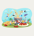pasta kitchen family gatherings food concept vector image