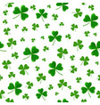 patricks day seamless pattern with clover leaves vector image vector image