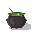 potion cauldron isolated cartoon icon vector image