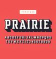 Prairie condensed retro typeface uppercase vector image