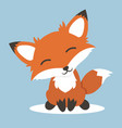 red fox cartoon vector image vector image