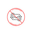 refresh mail line icon new messages vector image vector image
