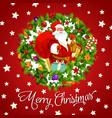 santa claus on christmas holiday greeting postcard vector image vector image