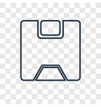 save concept linear icon isolated on transparent vector image