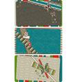 Scrapbook business Cards vector image