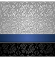 seamless decorative background silver with a blue vector image vector image